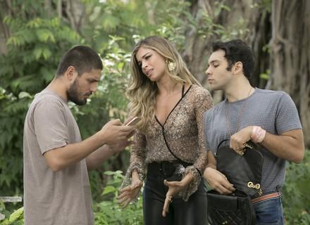 Luciane visita Gustavo e o convence a terminar com Salete