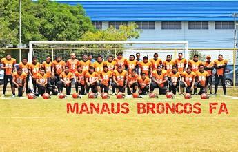 Xará do campeão do Super Bowl 50, Manaus Broncos sonha com a elite