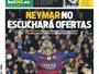 Jornal: Neymar tem renovação encaminhada e não escutará ofertas