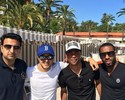 """De folga, Massa tira foto ao lado do  craque Ashley Cole: """"Gente boa"""""""