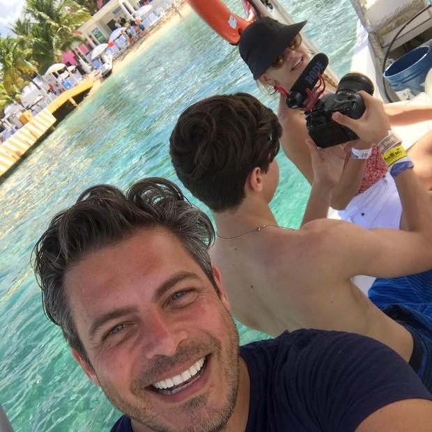 Luigi Baricelli curte passeio em Miami, nos Estados Unidos (Foto: Reprodução/Instagram)