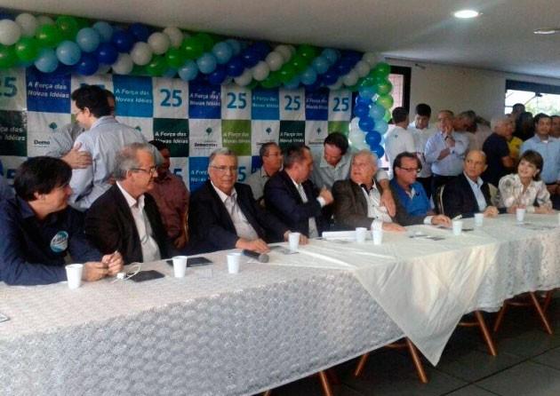 Convenção do DEM em Vitória (Foto: Vinícius Valfré/ A Gazeta)