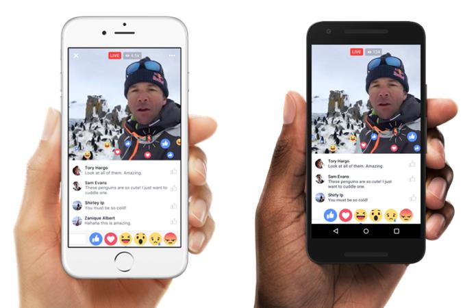 Use as reações do Facebook durante uma transmissão ao vivo (Foto: Divulgação/Facebook)