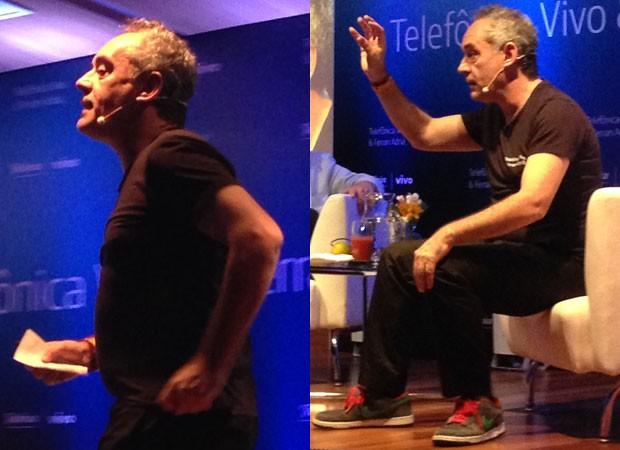 O chef espanhol Ferran Adrià durante apresentação à imprensa na terça-feira (5), em São Paulo (Foto: Daniela Braun/G1)