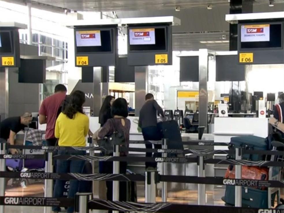 Aeroporto Internacional de Guarulhos (Foto: Reprodução/ TV Globo)