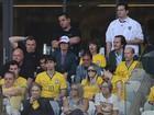 Mick Jagger está no Mineirão e torce pelo Brasil em jogo