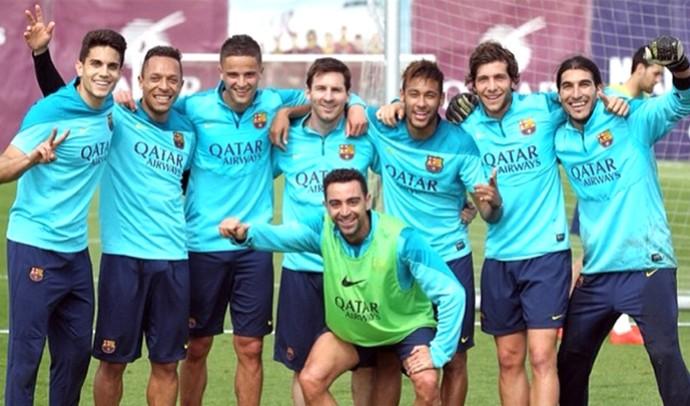 Barcelona depois do treino insta (Foto: Reprodução / Instagram )
