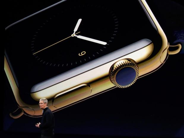 O CEO da Apple Tim Cook fala durante apresentação de produtos da empresa em São Francisco, na Califórnia (Foto: Robert Galbraith/Reuters)
