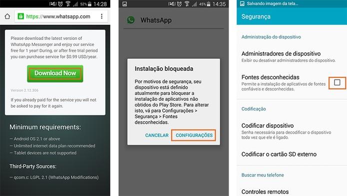 Baixe a versão mais recente do WhatsApp no Android e instale (Foto: Reprodução/Barbara Mannara)