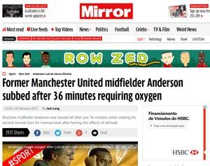 Anderson Oxigênio imprensa inglesa (Foto: Reprodução)