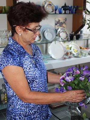 Dona Dina, mãe de Sarah Menezes (Foto: Josiel Martins/Globoesporte.com)