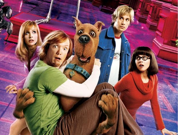 Freddie Prinze Jr. no cartaz do filme Scooby-Doo (Foto: Reprodução)