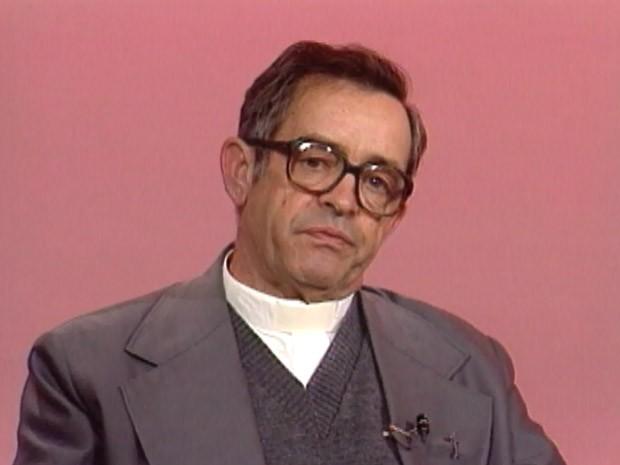 Dom Luiz Eugênio Perez em entrevista à EPTV em 1992 (Foto: Reprodução/EPTV)