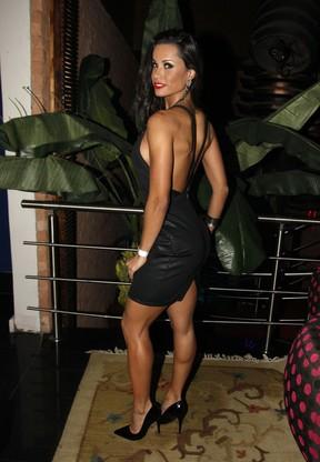 Fernanda D'Avila em festa em São Paulo (Foto: Celso Tavares/ EGO)