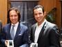 Fittipaldi e Castroneves se encontram em evento 10 anos após briga judicial
