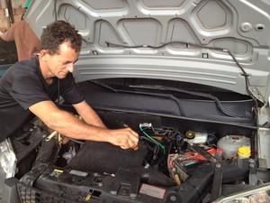 Vereador mecânico (Foto: Yuri Maciel/G1)