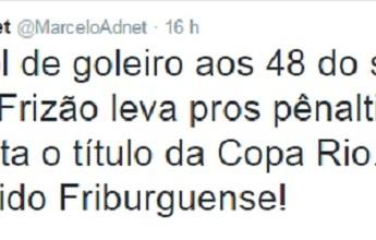 Humorista Marcelo Adnet parabeniza Frizão por título em jogo memorável