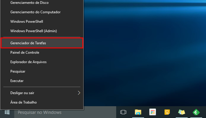 Acesse o Gerenciador de Tarefas do Windows 10 (Foto: Reprodução/Paulo Alves)