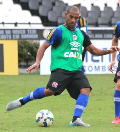 Rodrigo, com Dagoberto, no treino do Vasco (Foto: Paulo Fernandes/Vasco.com.br)