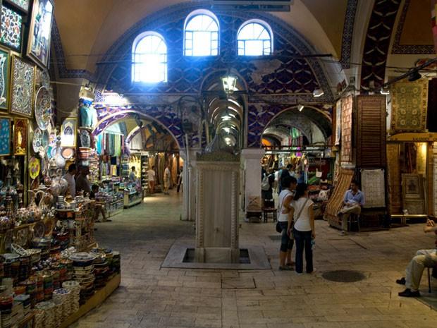 O Grand Bazaar é o maior e mais antigo mercado coberto do mundo (Foto: Salve Jorge/TV Globo)