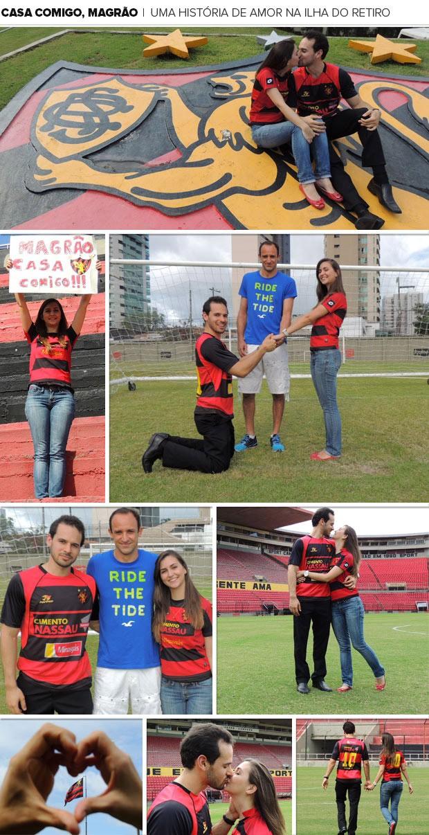 Mosaico casamento sport Magrão 2 (Foto: Editoria de Arte)