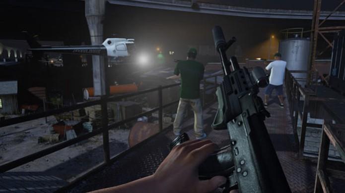 Novo modo em primeira pessoa de GTA 5 traz o mesmo jogo sob nova ótica (Foto: Gematsu) (Foto: Novo modo em primeira pessoa de GTA 5 traz o mesmo jogo sob nova ótica (Foto: Gematsu))