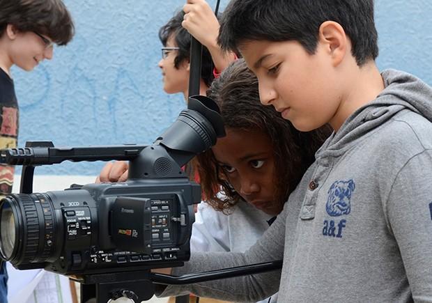 Cineastas mirins são as grandes estrelas do evento (Foto: Reprodução)