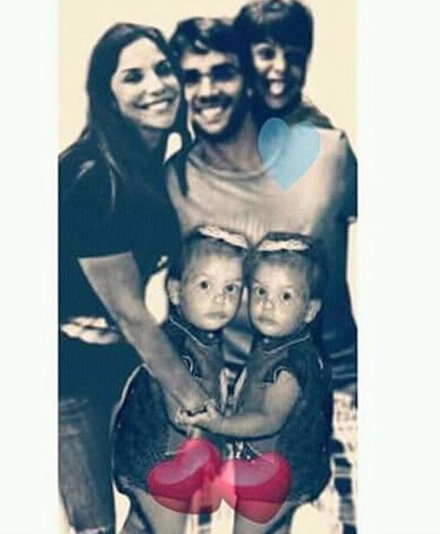 Ivete com Daniel, Marcelinho e as gêmeas (Foto: Reprodução/Instagram)