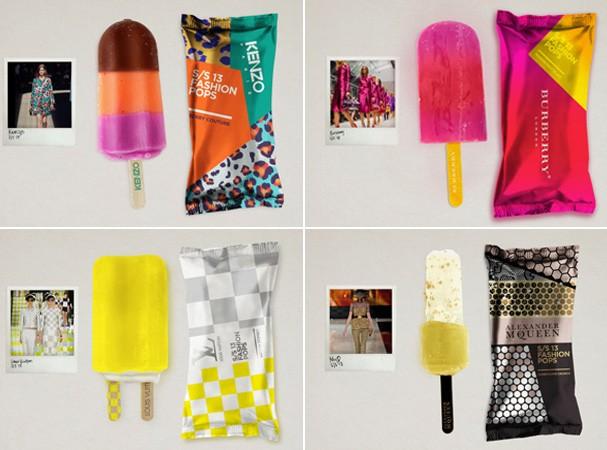 Fashion Pops, picolés de grife, por Lara Atkinson (Foto: Divulgação)
