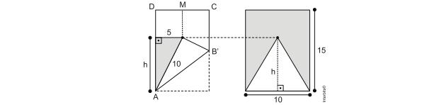 Esquema com área das partes do papel (Foto: Reprodução/UERJ)