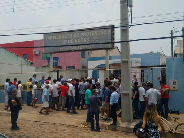 Assalto aconteceu na manhã desta segunda-feira (19), em Porto Nacional (Foto: Divulgação)