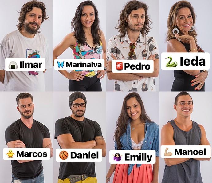 Luiz Felipe escolhe emojis para os brothers (Foto: Reprodução/Internet)