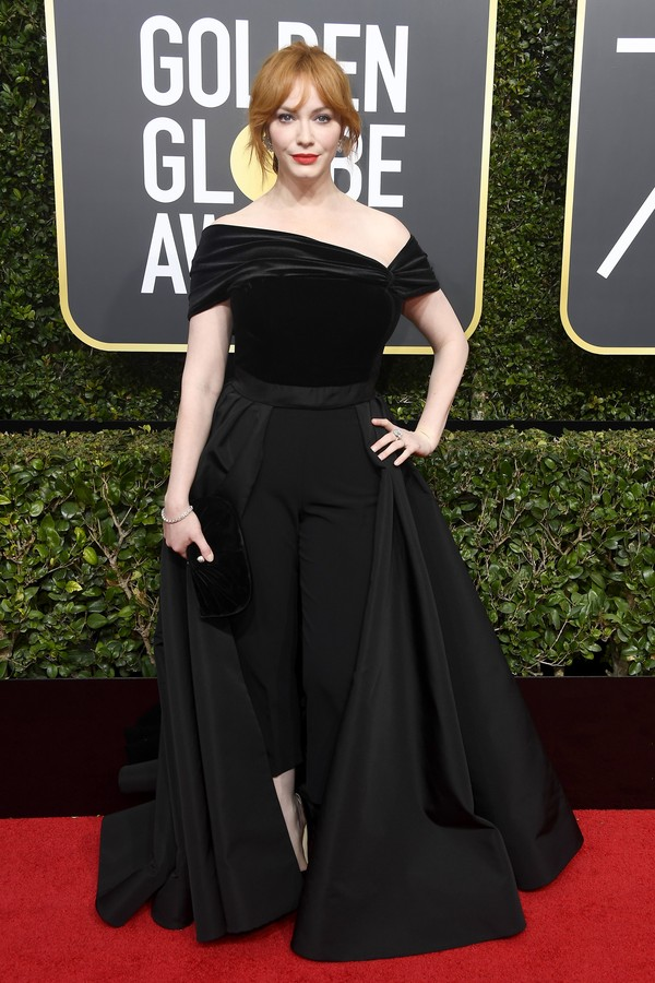 BEVERLY HILLS, CA - JANUARY 07:  Christina Hendricks attends The 75th Annual Golden Globe Awards at The Beverly Hilton Hotel on January 7, 2018 in Beverly Hills, California.  (Photo by Frazer Harrison/Getty Images) (Foto: Getty Images)