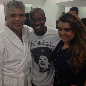 Lulu Santos, Thiaguinho e Preta Gil em bastidores de show no Rio (Foto: Instagram/ Reprodução)