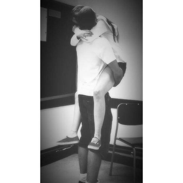 Ronald Domingues, filho de Ronaldo, com a namorada (Foto: Instagram / Reprodução)