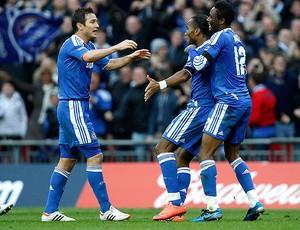 Drogba, Tottenham x Chelsea (Foto: Reuters)