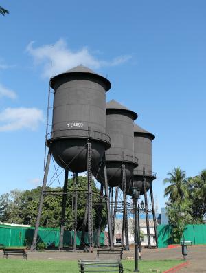 Símbolo de Porto Velho, as três caixas d'águas ou três Marias. (Foto: Jenifer Zambiazzi/G1)