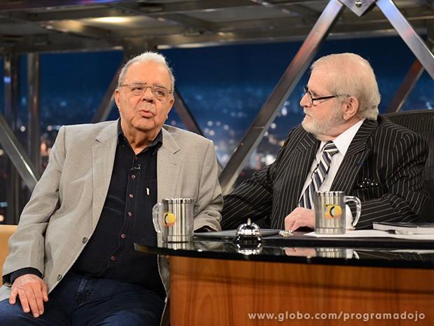Sérgio Cabral participa do Programa do Jô desta quinta-feira (Foto: TV Globo/Programa do Jô)
