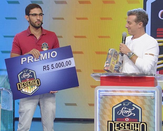 Plinio Câmara se deu bem e levou para casa R$ 5mil (Foto: TV Globo)