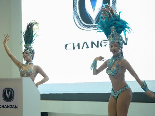 A Changan foi a primeira a se apresentar no segundo dia de imprensa no Salão (Foto: Flavio Moraes/G1)