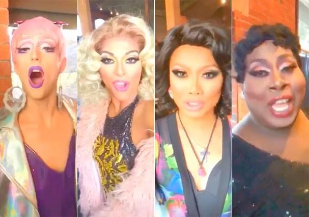 As drag queens Laganja Estranja, Shangela, Jujubee e Latrice Royale (Foto: Reprodução/Twitter)
