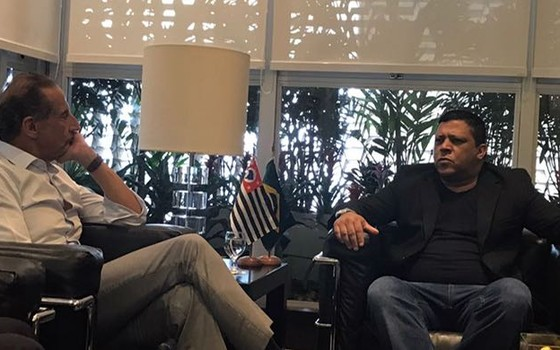 Adilson Araújo, presidente da CTB, encontra o presidente da Fiesp, Paulo Skaf (Foto: Reprodução)