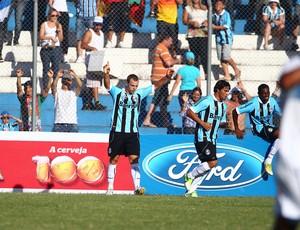 Lucas Coelho marca o gol pelo Grêmio (Foto: Lucas Uebel/Divulgação, Grêmio)