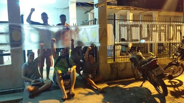 Estudantes tomaram o campus Penedo da Ufal na noite de quinta-feira (27) (Foto: Divulgação/Ufal)
