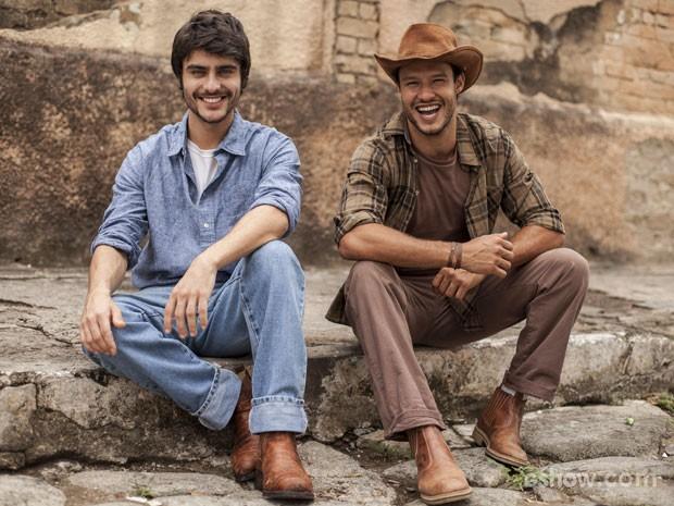 Guilherme Leicam e Fernando Rodrigues   (Foto: Inácio Moraes / TV Globo)