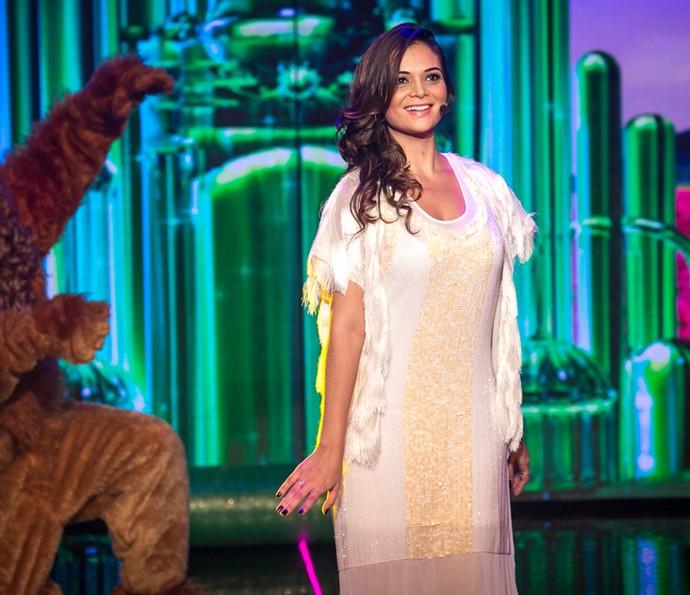 Irmã de Juliana Paes faz homenagem cantando o tema do 'Mágico de Oz' (Foto: Isabella Pinheiro/ Gshow)