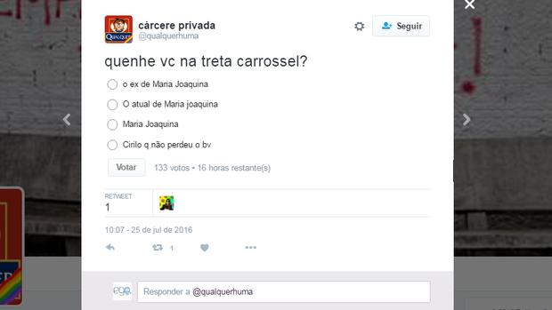 Usuários do Twitter comentam as confusões do Carrossel (Foto: Reprodução/Twitter)