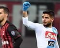 """Com quase """"obra-prima"""" de Insigne, Napoli vence Milan e assume 2º lugar"""