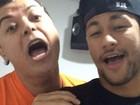 Nova dupla? David Brazil posta vídeo cantando com Neymar
