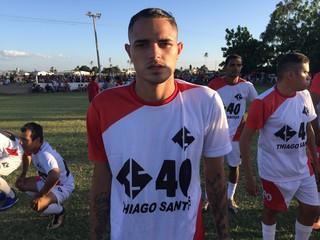 thiago santos, atacante do Flamengo (Foto: Lucas Barros / GloboEsporte.com)